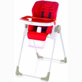 FOLDING HIGH CHAIR JANE MILA WHITE RED S42