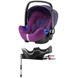 PACK BABY SAFE I-SIZE CAR SEAT WITH FLEX BASE RÖMER MINERAL PURPLE