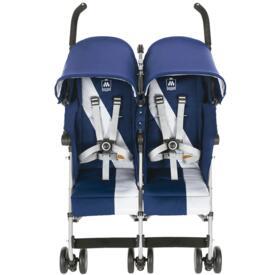 Twin Triumph Maclaren Stroller Medieval Blue Silver